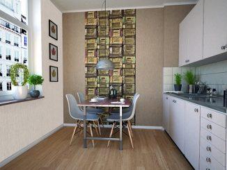 ładna tapeta w kuchni