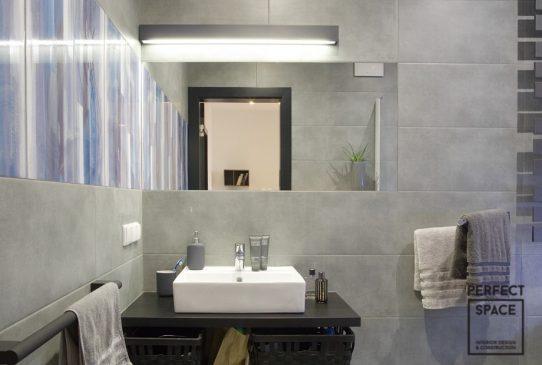 łazienka monochromatyczna