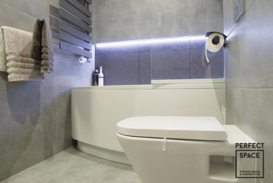 łazienka z oświetleniem led