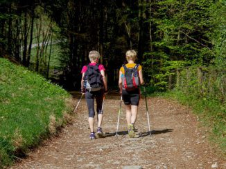 kobiety z kijkami nordic walking