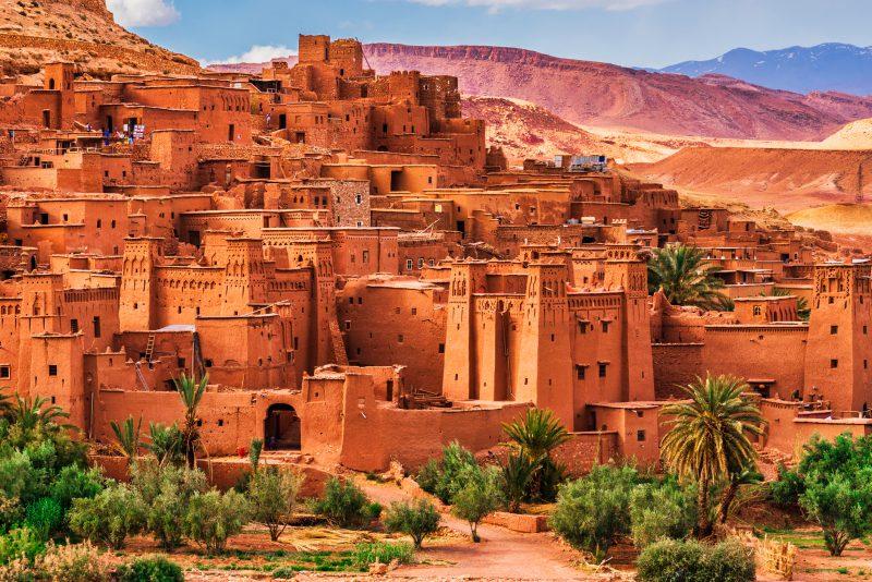 Ait benhaddou antyczne miasto w Maroko