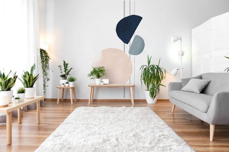 Naklejka abstrakcja w salonie
