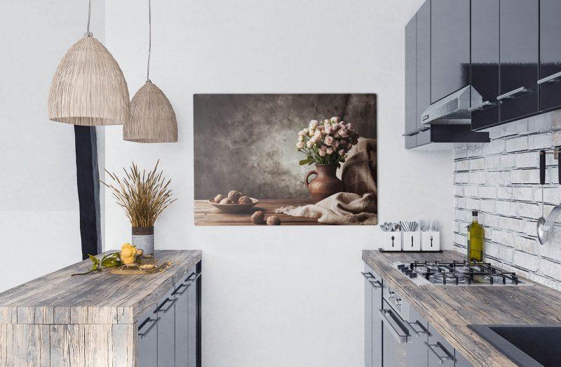 Obraz kwiaty w kuchni